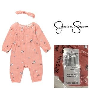 🆕JESSICA SIMPSON BABY - FLORAL JUMPSUIT - 24M-NWT
